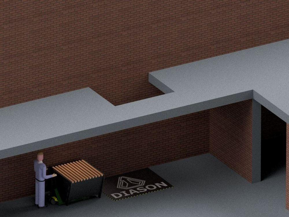 Визуализация работы межэтажного гидравлического подъемного стола№4