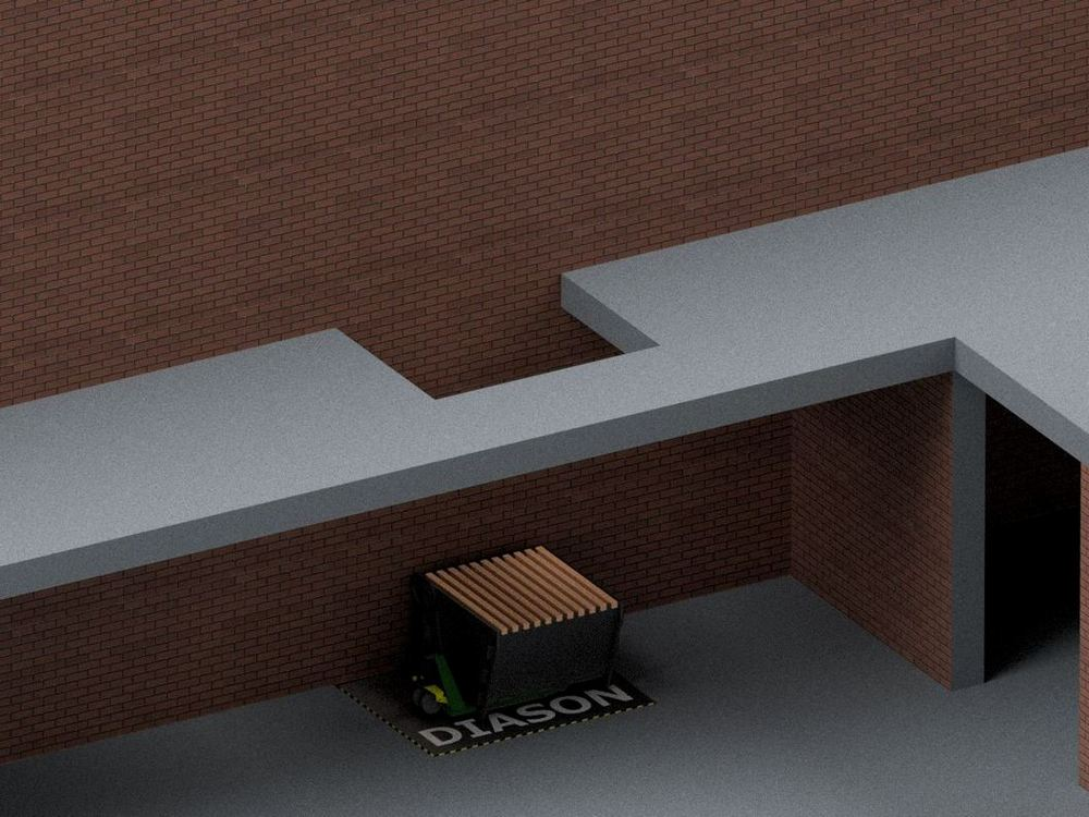 Визуализация работы межэтажного гидравлического подъемного стола№3