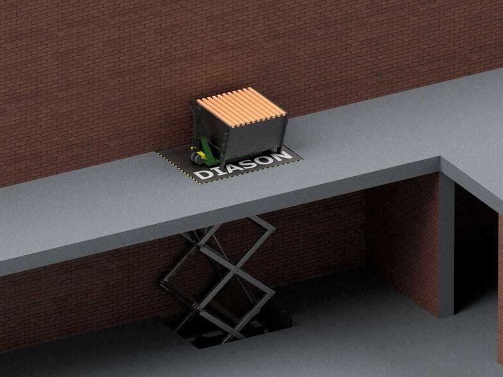 Визуализация работы межэтажного гидравлического подъемного стола№2