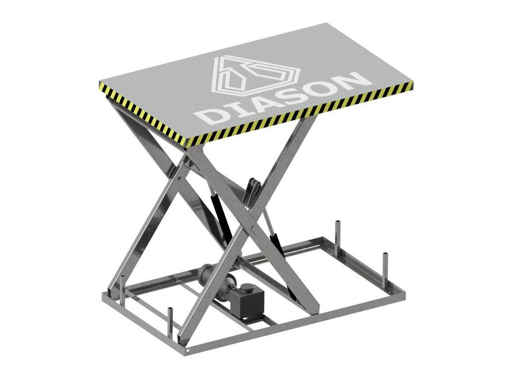 Визуализация работы гидравлического подъемного стола №6