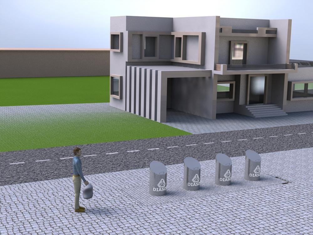 Визуализация работы подземных мусорных контейнеров№4
