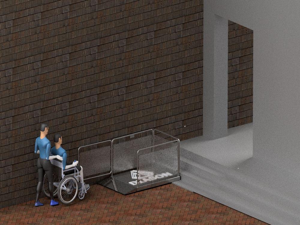 Визуализация работы маятникового инвалидного подъемника№4
