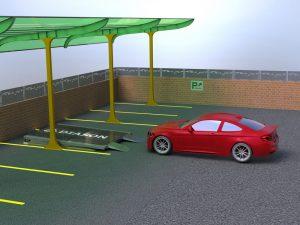 Визуализация работы парковочного подъемника№5