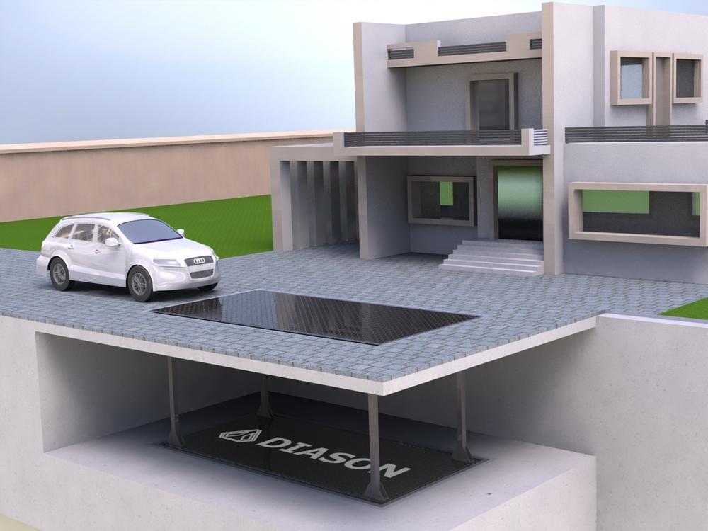 Визуализация работы подземного лифта для гаража№4