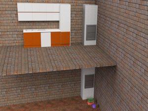 Визуализация работы малого грузового лифта для коттеджа и ресторана№4