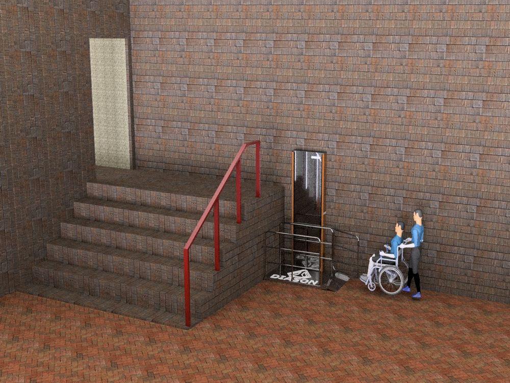 Визуализация работы вертикального инвалидного подъемника№4