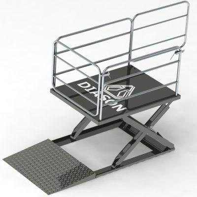 Низкопрофильный ножничный подъемный стол