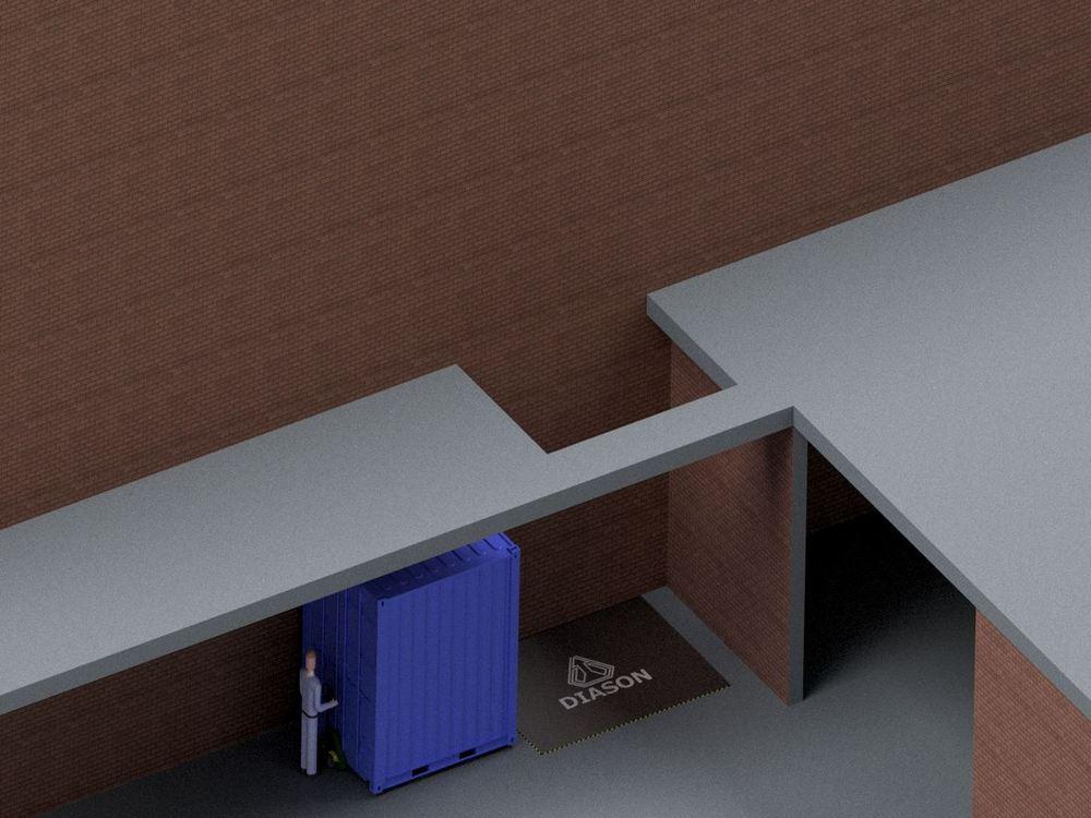 Визуализация работы гидравлического подъемного стола для габаритных грузов№4