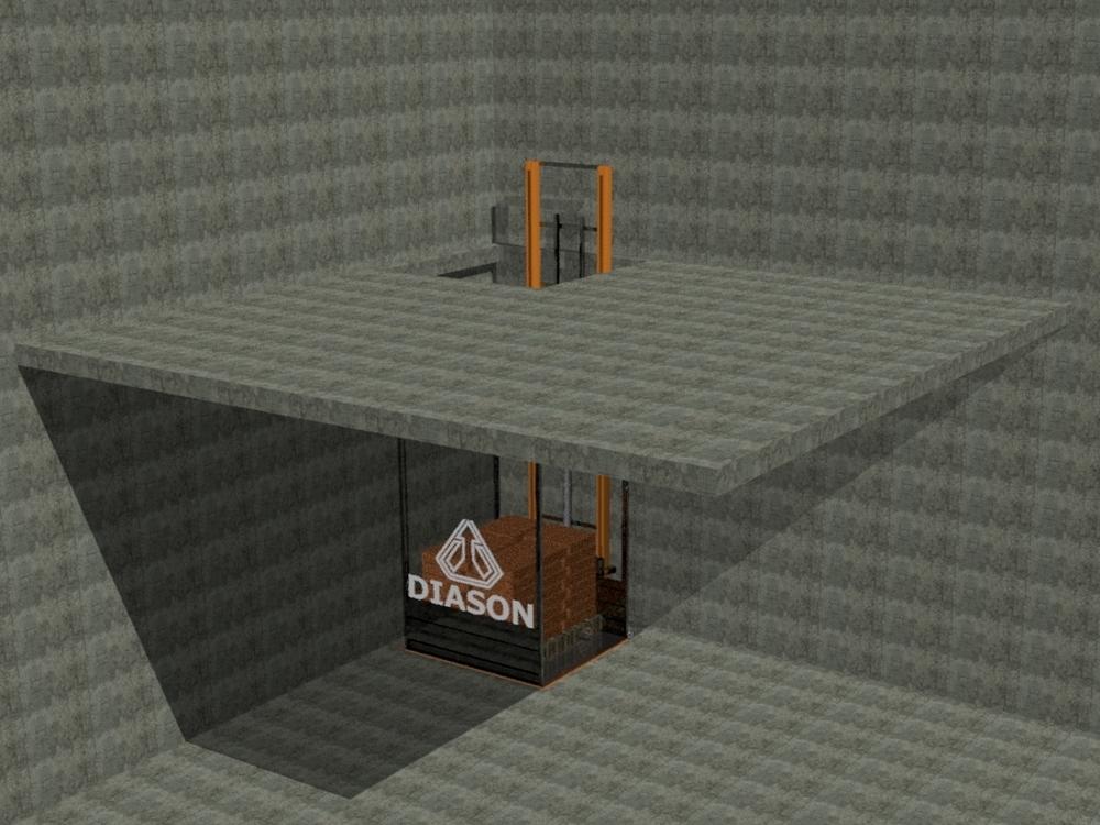 Визуализация работы гидравлического консольного подъемника№3