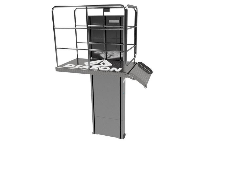 Визуализация работы вертикального инвалидного подъемника№5