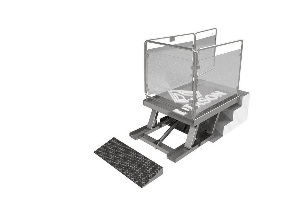 Визуализация работы маятникового инвалидного подъемника№5
