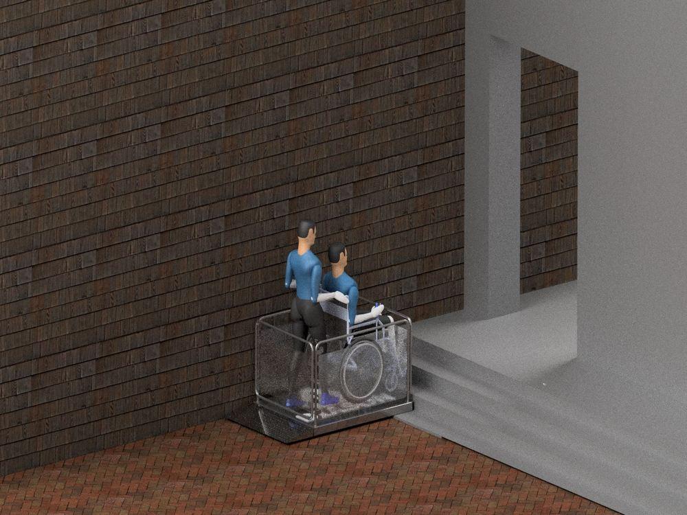 Визуализация работы маятникового инвалидного подъемника№3