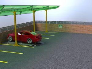 Визуализация работы парковочного подъемника№4