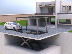 Визуализация работы подземного лифта для гаража№3