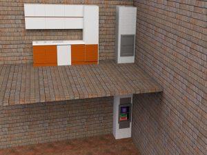 Визуализация работы малого грузового лифта для коттеджа и ресторана№3