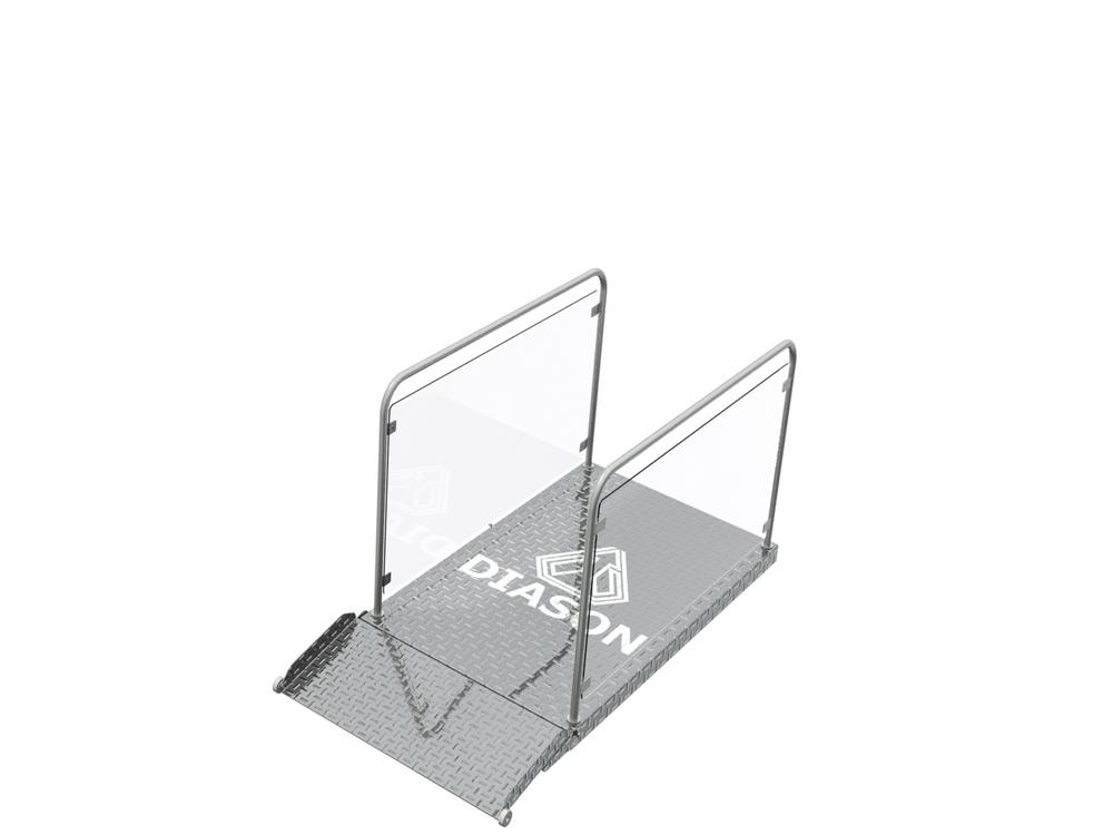 Визуализация работы ножничного инвалидного подъемника№3