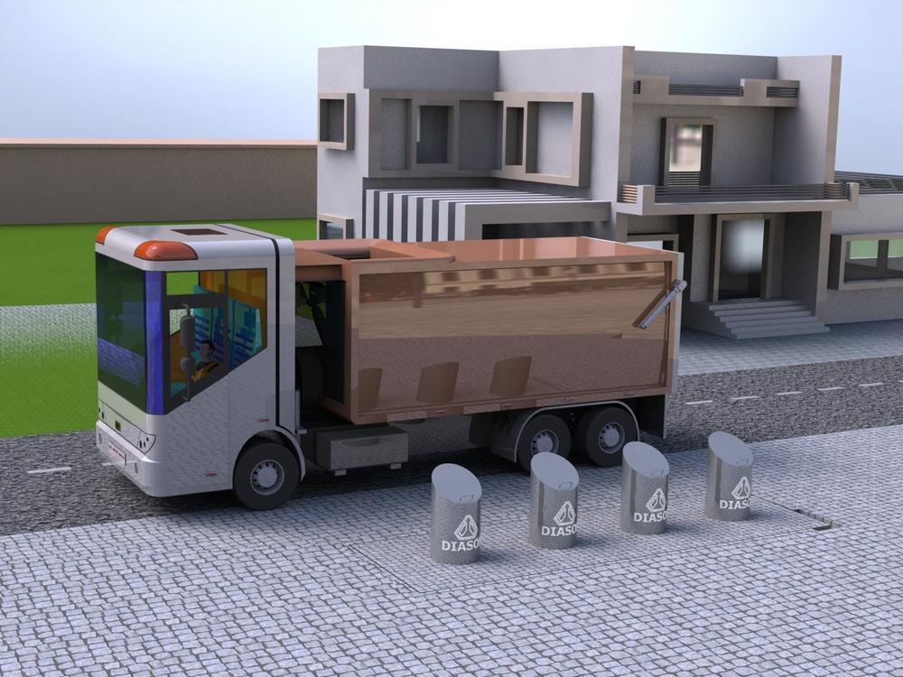 Визуализация работы подземных мусорных контейнеров№3