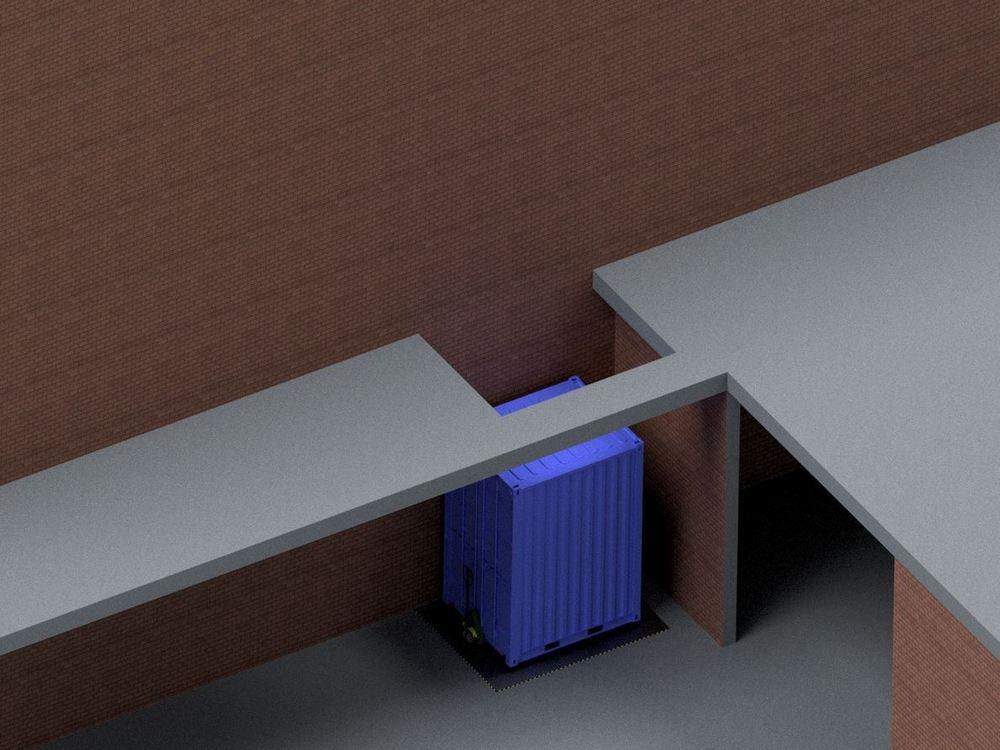 Визуализация работы гидравлического подъемного стола для габаритных грузов№3