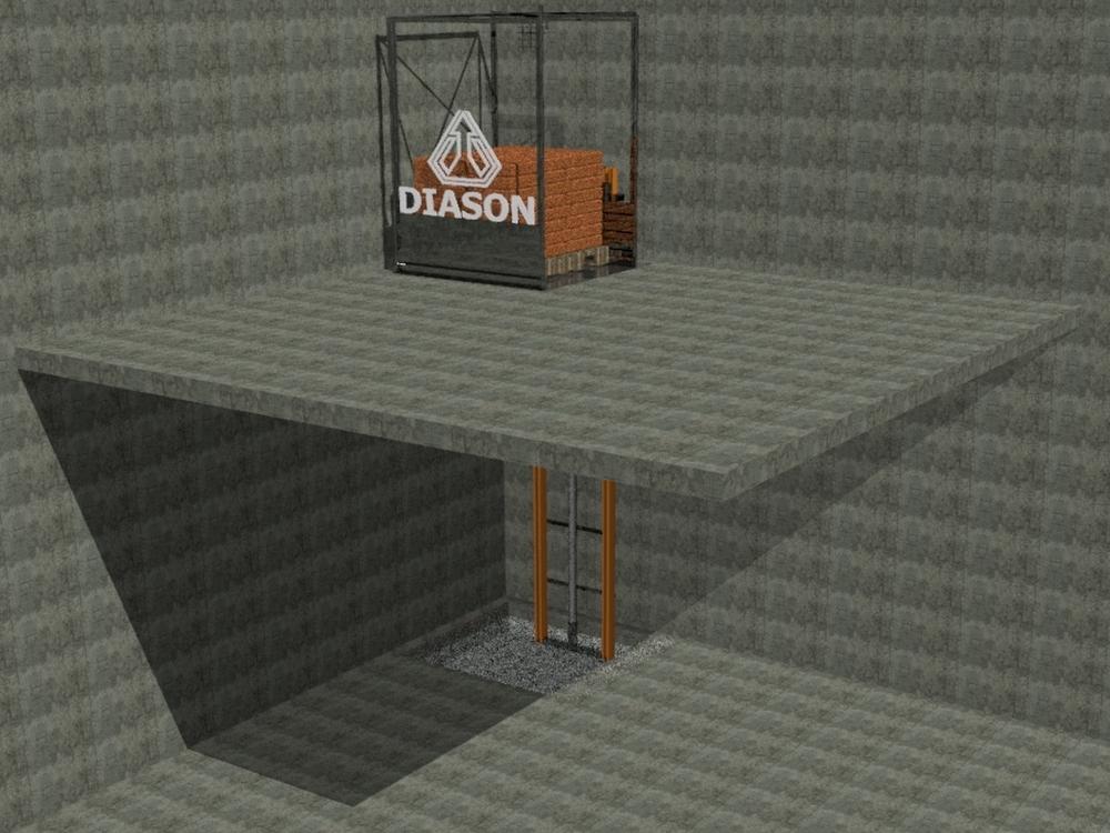 Визуализация работы гидравлического консольного подъемника№2
