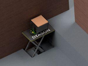 Визуализация работы гидравлического подъемного стола №2