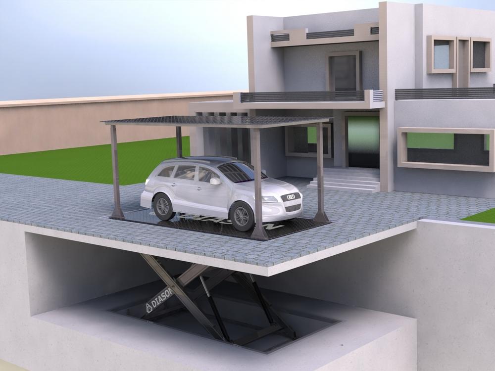 Визуализация работы подземного лифта для гаража№2