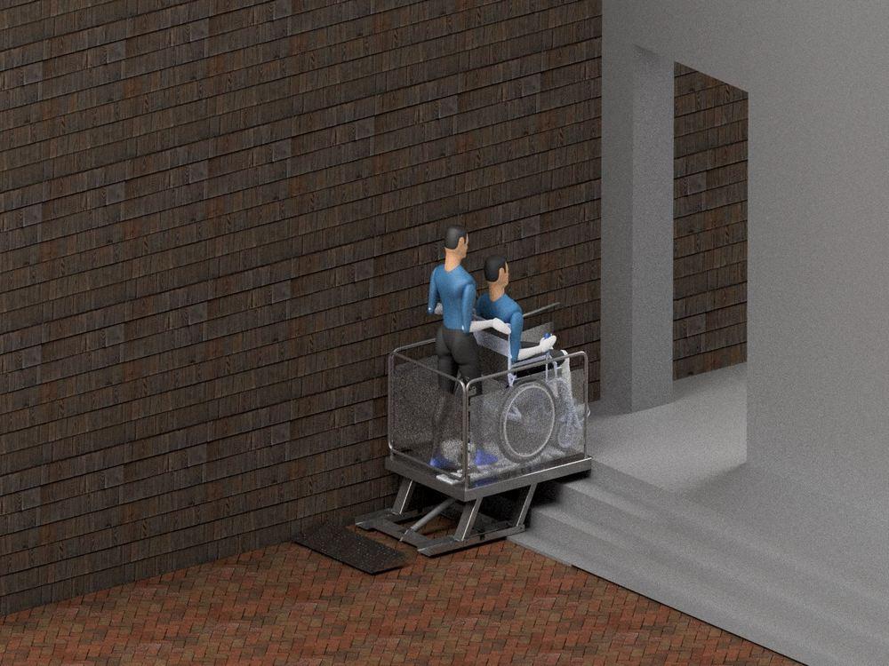 Визуализация работы маятникового инвалидного подъемника№2