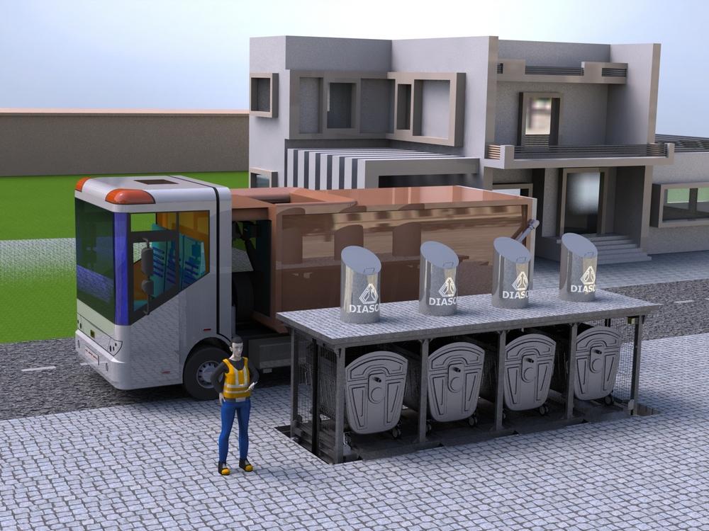 Визуализация работы подземных мусорных контейнеров№2