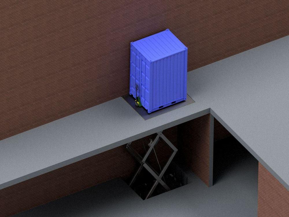 Визуализация работы гидравлического подъемного стола для габаритных грузов№2