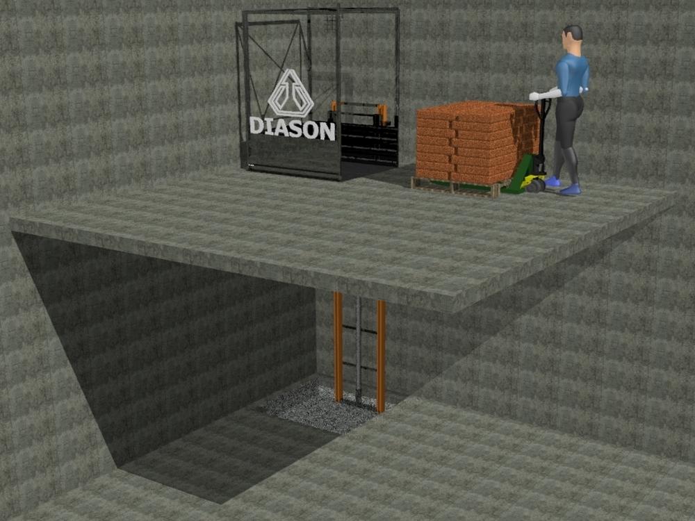 Визуализация работы гидравлического консольного подъемника№1