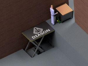 Визуализация работы гидравлического подъемного стола №1