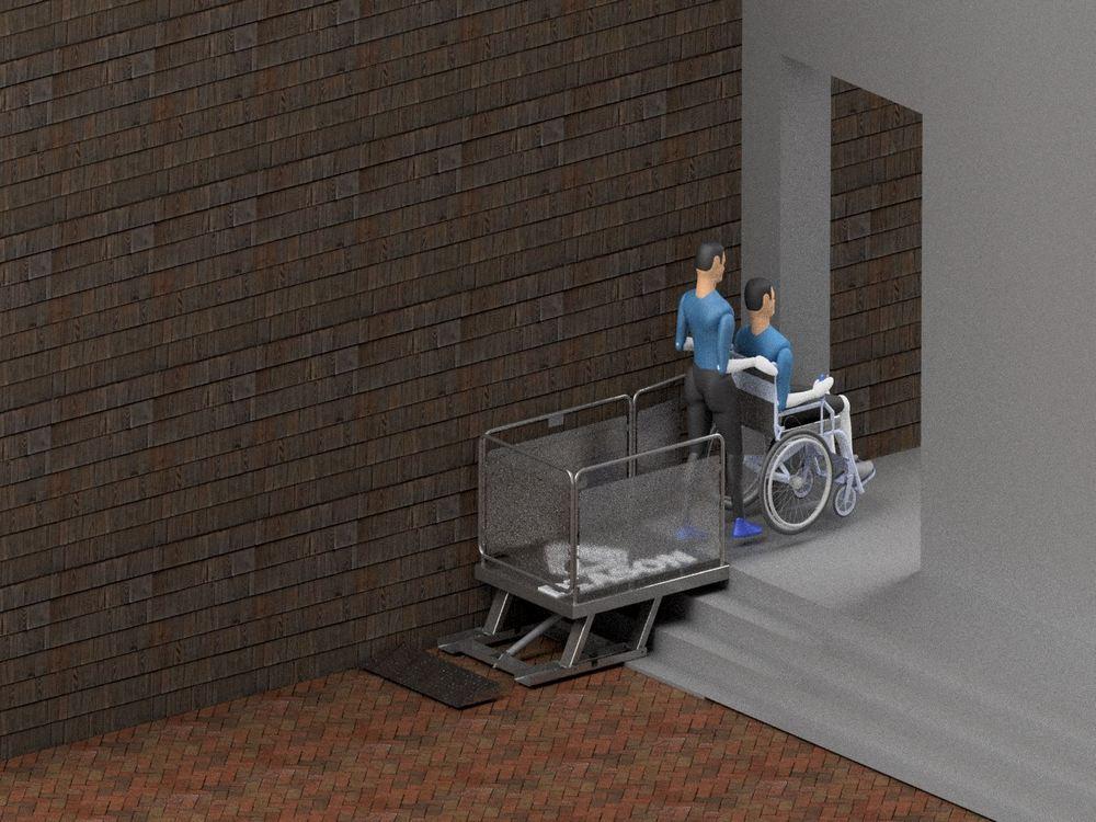 Визуализация работы маятникового инвалидного подъемника№1