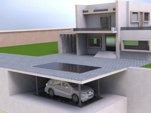 Визуализация работы подземного лифта для гаража№1