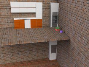 Визуализация работы малого грузового лифта для коттеджа и ресторана№1