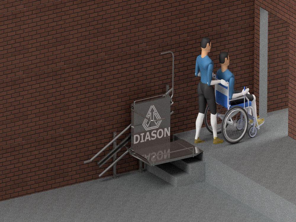 Лестничный инвалидный подъемник завершение
