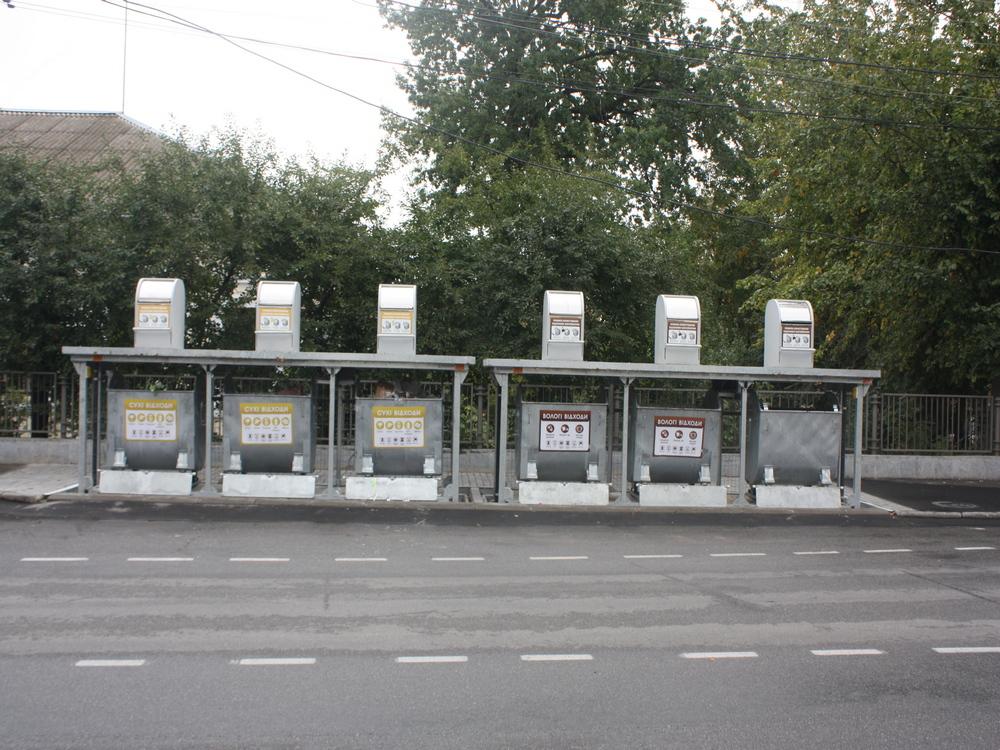 Подземные мусорные баки в Виннице