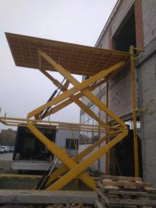 Изображение реализованного проекта по межэтажному гидравлическому подъемному столу №3