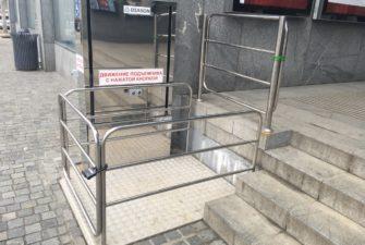 Изображение реализованного проекта по вертикальному инвалидному подъемнику №7
