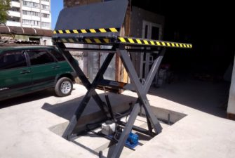 Изображение реализованного проекта по гидравлическому подъемному столу №5
