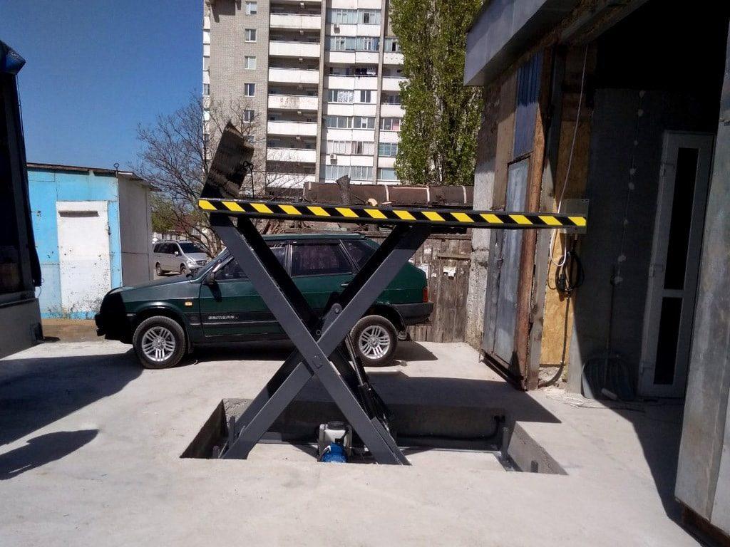 Изображение реализованного проекта по гидравлическому подъемному столу №6