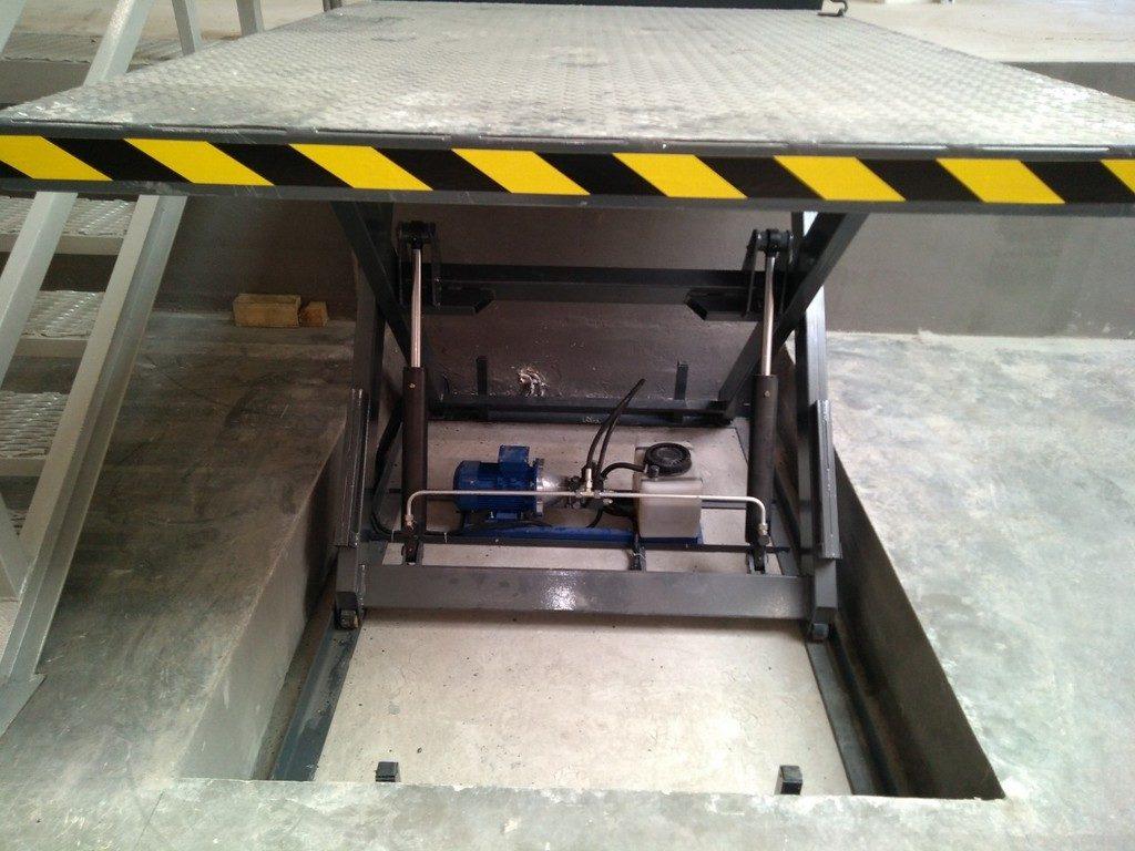 Изображение реализованного проекта по гидравлическому подъемному столу №14