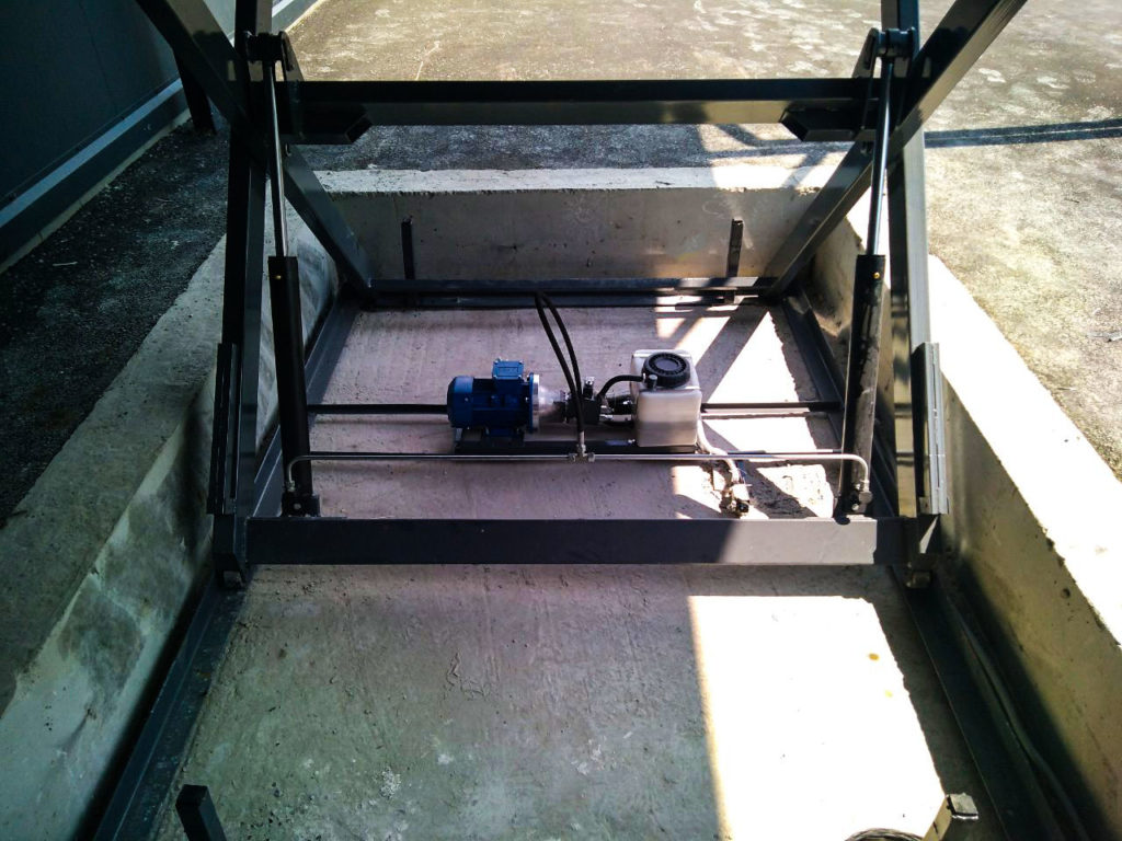 Изображение реализованного проекта по гидравлическому подъемному столу №20
