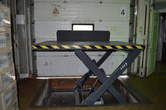 подъемный стол четвертый производство Diason для компании Квитень