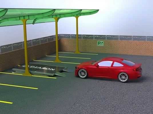 парковочный подъемник ножничного типа с 1 авто