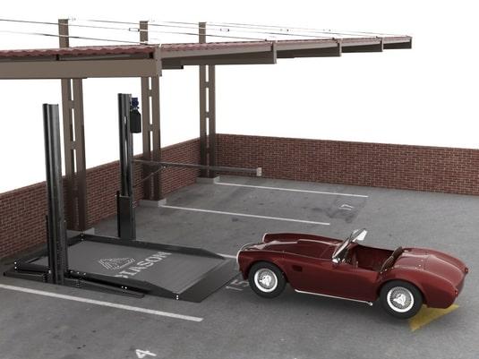 парковочный подъемник стоечного типа с 1 авто