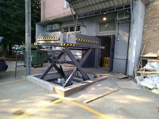 подъемный стол для магазина траш в борисполе вид2