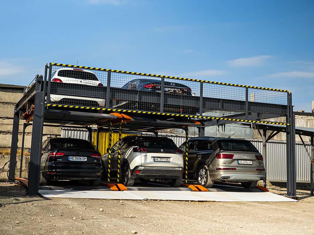 автоматическая парковка двухуровневая
