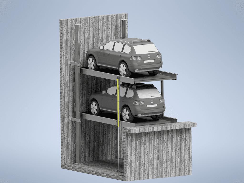 углубленный парковочный подъемник